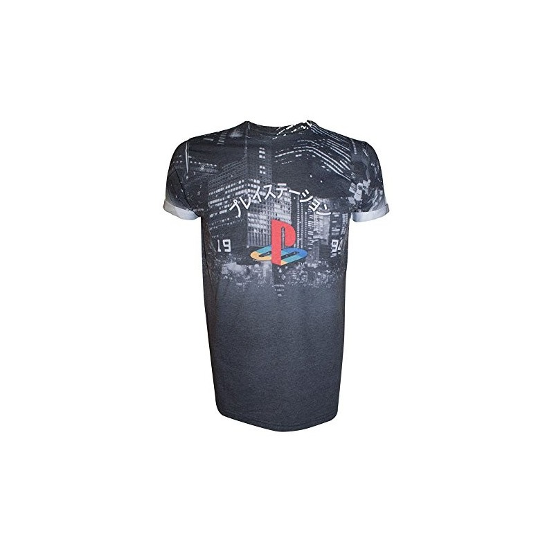 Over T Shirt Playstation Sony City Sublimation All Landscape Medium DHIe9WE2Y