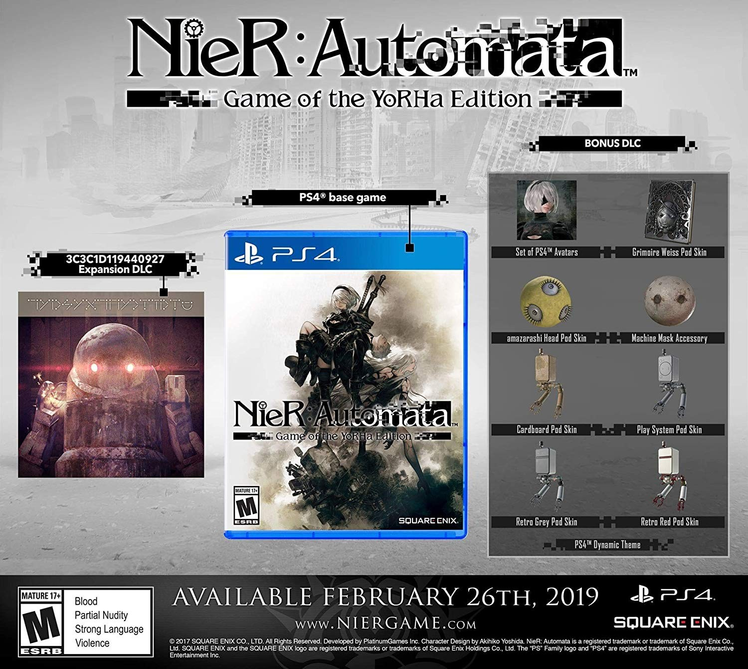 NIER PS4 Automata Game of The Yorha Edition Italiano Playstation 4 + GIFT SET